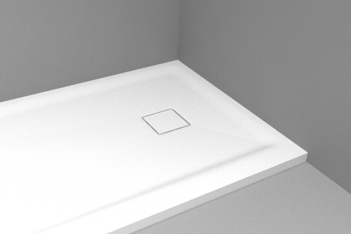 HI-MACS or Corian Square Shower Waste