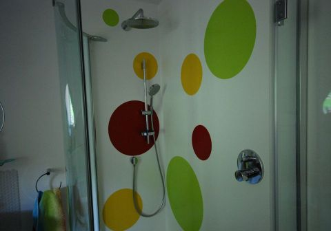 Funky Patterned Shower Wall Panels