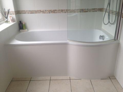 HI-MACS Cream Front Bath Panel