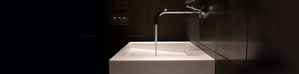 Solidity bathroom sink