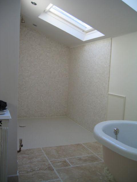 Custom Wet Room Floor in Victorian Style Bathroom