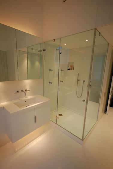 Vanity and Shower enclosure