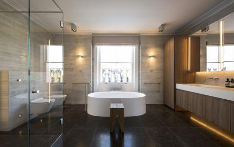 Quadro custom sink in thick vanity top