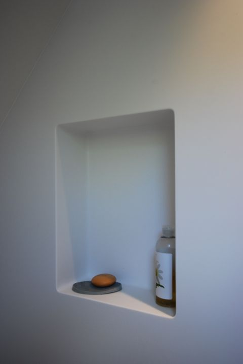 Shower Recess with Coving