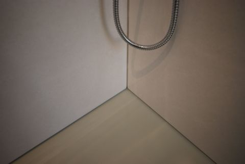 Silicone Free Shower Floor & Wall Panel Junction