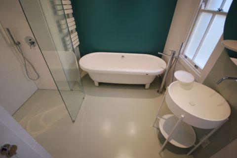 Pale Green Custom Wet Room Floor & Wall Panels