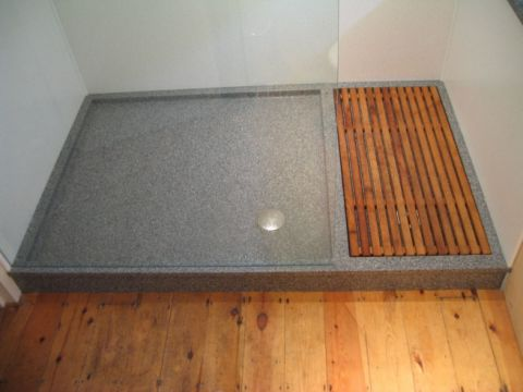 Bespoke Coloured Shower Tray with Drying Area