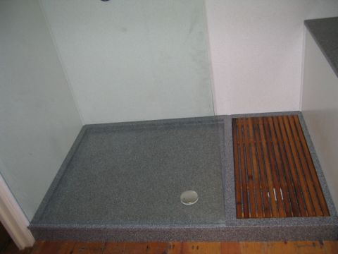 Bespoke Shower Tray & Wall Panels on Barge