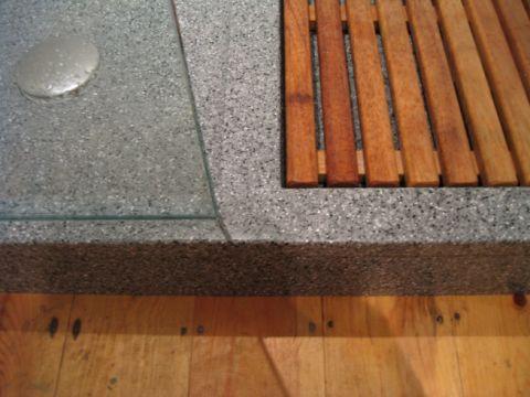 Edge Detail to Bespoke Shower Tray