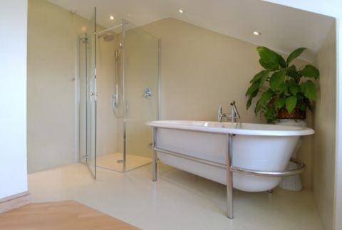 beautiful bespoke wet room area in large bathroom