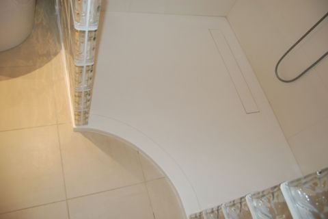 Curved Front to Bespoke Shower Tray
