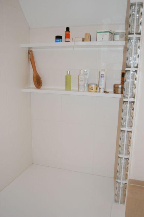 Shelving in Bespoke Shower