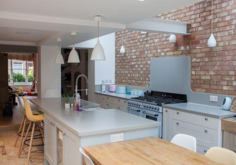 Corian Warm Grey Kitchen