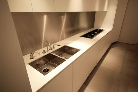 Double Stainless Steel Sink with Gas Hob