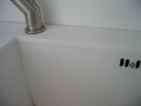 Dirty sink to worktop joint