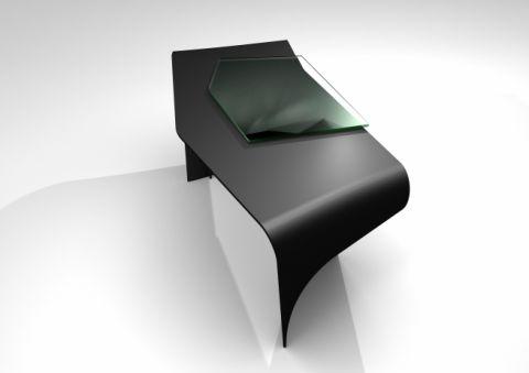Hi-MACS Twisted Desk