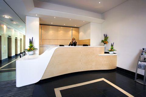 Corian Thermoformed Reception Desk