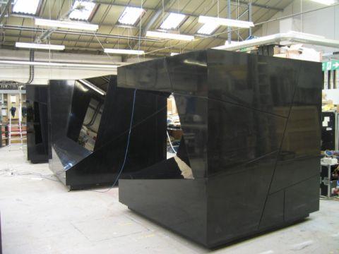 High Gloss HI-MACS exhibition display