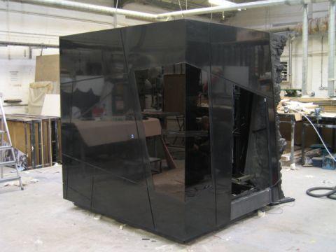 Black HI-MACS display cube