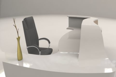 Corian Curved Reception Desk