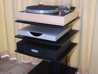 Bespoke HI-MACS turntable stand