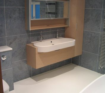 Wet Room Floor with Agape Bathroom Furniture