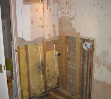 site preparation for wet room floor installation