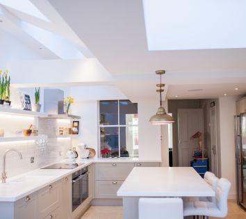 Corian Kitchen in Victorian Terraced House