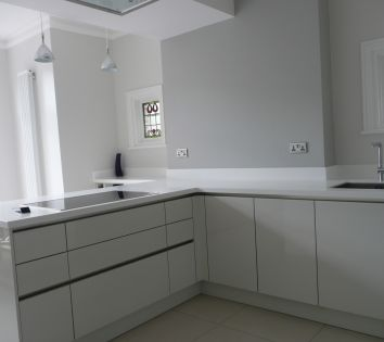30mm Thick Glacier White Kitchen Worktop