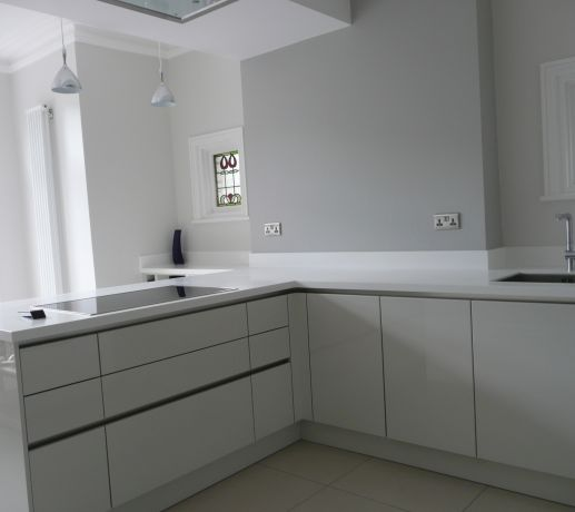 30mm Thick Glacier White Kitchen Worktop