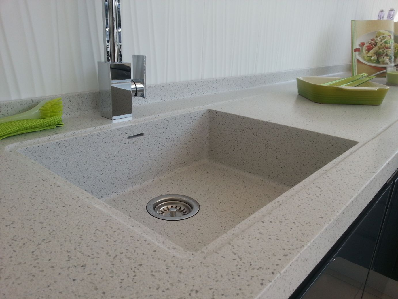 Superior Corian/HI MACS 600mm Sink With Recessed Perimeter Drainer