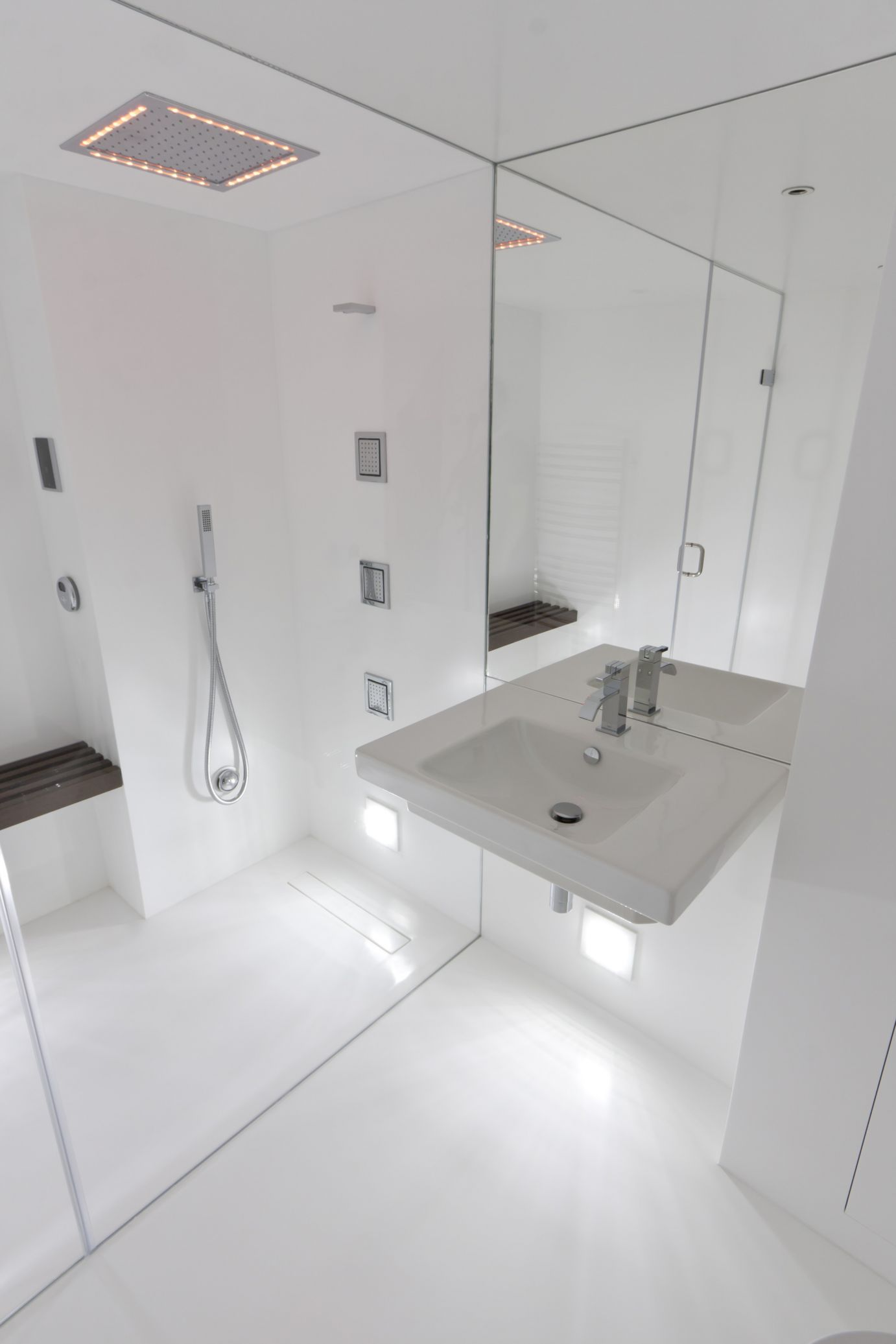 Wetroom floors solidity solidity solid surface steam room dailygadgetfo Choice Image