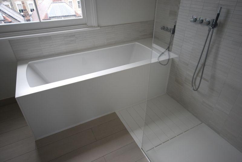 HI-MACS Low Profile Tray, Bath Surround and Vanity | Solidity