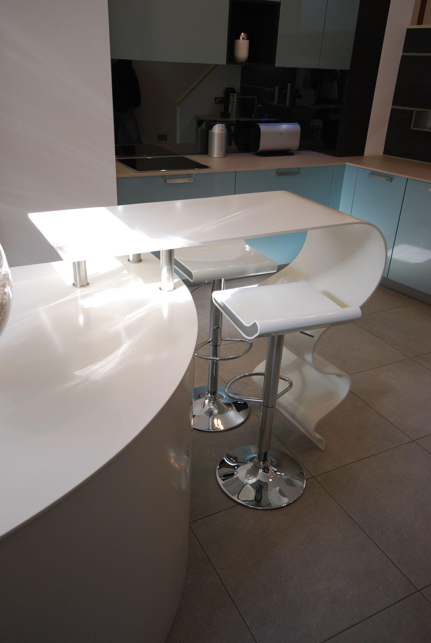 Funky Worktop at Hacker Kitchen Showroom | Solidity