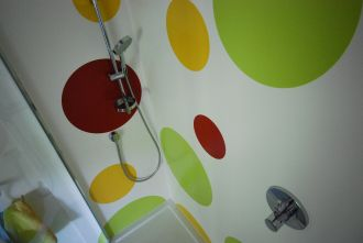 Inlaid Coloured Wall Panels