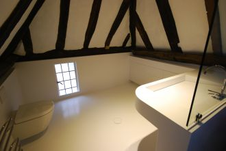 Solid Surface Wetroom in Barn Conversion