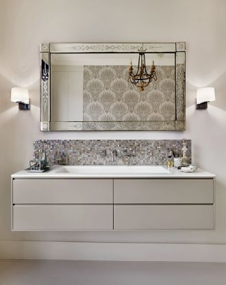 Beautiful Corian Vanity with Drawer unit
