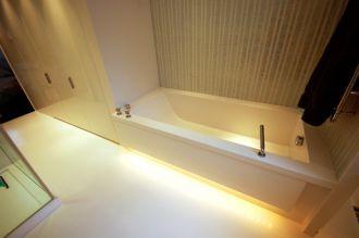 Custom Bath with Underlit Side panels