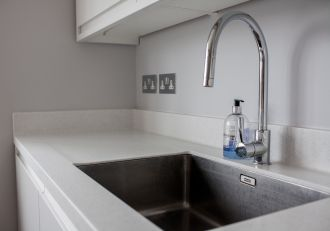 Draining Area for Undermount Sink