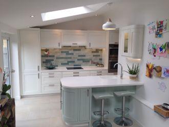Glacier White Corian Kitchen Worktops