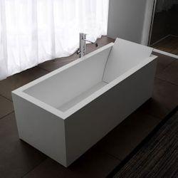 Corian Bespoke White Bath with Backrest
