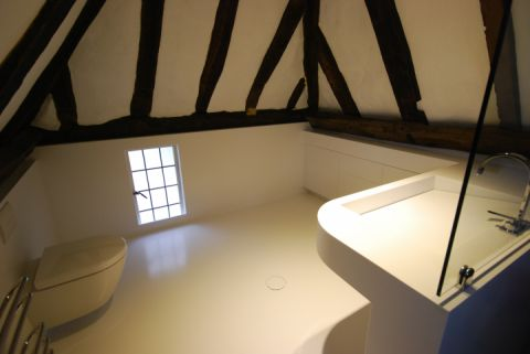 Solid Surface Wet Room in Barn Conversion