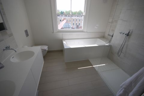 Double Vanity and Bath Surround
