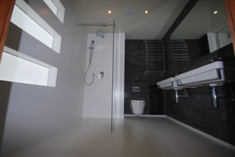 Wet Room with Back lit Niche Boxes