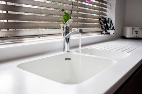 Corian Sink & Drainer Grooves