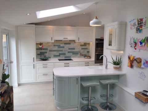 Glacier White Corian Kitchen Worktops