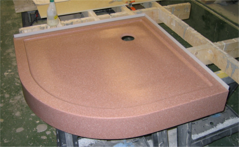 Curved Quadrant Coloured Shower Tray