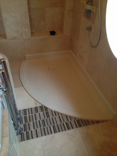 Custom Made Shower Tray with Curve