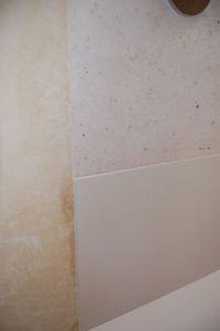 HI-MACS panel meets polished plaster and wood