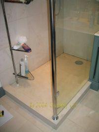 leaking limestone shower tray